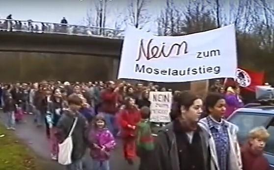 Schon 1994 wehrten sich verantwortungsvolle Bürgerinnen und Bürger gegen den seit Jahrzehnten umstrittenen Moselaufstieg